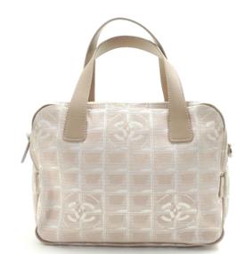 Chanel Travel Line Pink Canvas & Leather Tasche Beige
