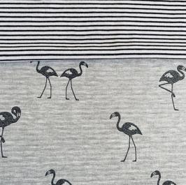 muts sjaal flamingo zilver