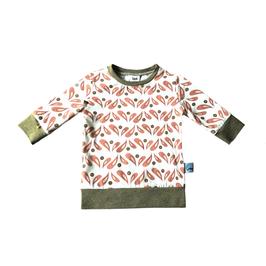 longsleeve shirt retro bloem (mid mouw)