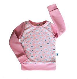 sweater wolkjes rose