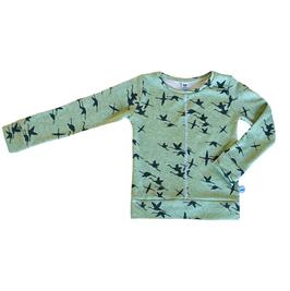 sweater vogels groen