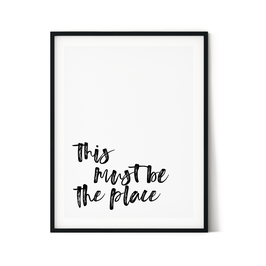 Poster: This must be the place