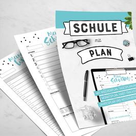 Schule mit Plan, Vorlagen zum Ausdrucken