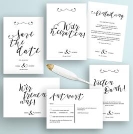 Boho Hochzeit Einladungskarten-Set Druckvorlagen