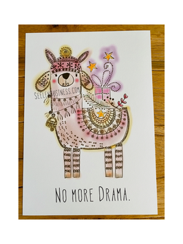 "DIN A4 Kunstdruck ""NO MORE DRAMA"""