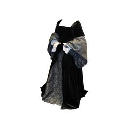 Hut und Robe Hochmittelalterliche Traumrobe reine Baumwolle (Samt und Batist)
