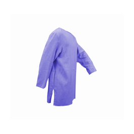 Hut und Robe Tunika 100% Leinen,  handgenäht,  blau