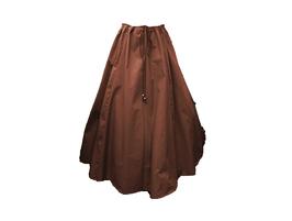 Hut und Robe Rock 100% Baumwolle braun