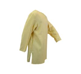 Hut und Robe Tunika aus 100% Leinen,  handgenäht, gelb