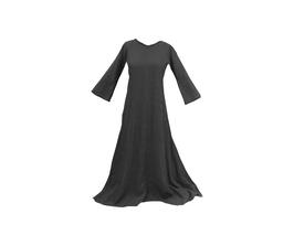 Hut und Robe Leinenkleid schwarz