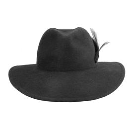 Hut und Robe großer Trilby 100% Haar anthrazit