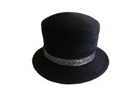 Hut&Robe Zylinder schwarz Velour mit Borte 100% Haar