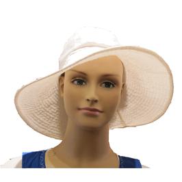 Hut und Robe sehr große Cloche in weiß. Viscose.
