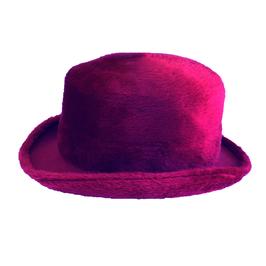 Hut und Robe Zylinder 100% Haar pink