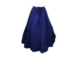 Hut und Robe Rock 100% Baumwolle blau