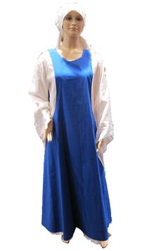 Surcot von Hut und Robe aus blauer Baumwolle