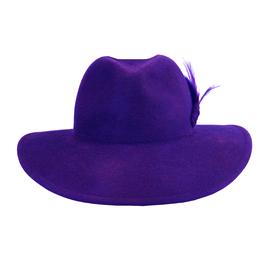 Hut und Robe großer Trilby 100% Haar flieder