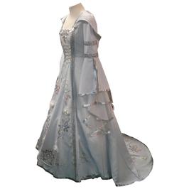 Hut und Robe LARP Kleid  60% Baumwolle, 40%Leinen