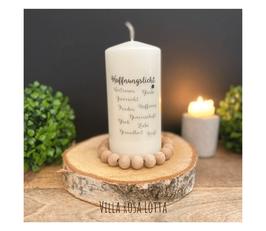 Bluke038 Kerze ⋆ Hoffnungslicht ⋆  Vertrauen Glaube Zuversicht Hoffnung Frieden Gemeinschaft Glück Liebe Gesundheit Kraft