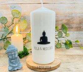 * Buddha Yoga + Meditate * Kerze für Yoga & Meditation