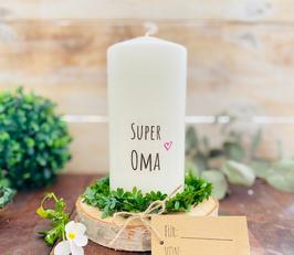 Kerze * Super Oma * personalisiertes Muttertagsgeschenk