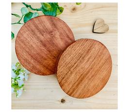 Holzscheibe schlicht rund braun/rötlich ohne Baumrinde 10 cm Durchmesser mit Filz