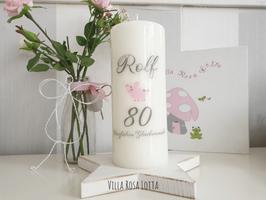 Geburtstagskerze ⋆KAROSCHWEINCHEN ROLF ⋆