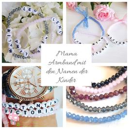 Mama Armband mit Namen der Kinder