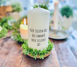 Bluke002  Kerze ⋆ Stammtisch ⋆ Hier sitzen die - die immer hier sitzen