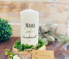 Kerze * Mama du bist wundervoll * personalisiertes Muttertagsgeschenk
