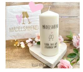 Bluke033 Kerze ⋆ Mädelsabend Champagner & leckeres Essen ⋆ Schönes Mitbringsel & Geschenk für Deine Mädels und eine schöne Tischdeko