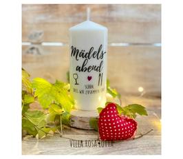 Bluke032 Kerze ⋆ Mädelsabend Wein & Essen  ⋆ Schönes Mitbringsel & Geschenk für Deine Mädels und als Tischdeko