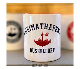 ZDÜBE001 Becher ⋆ Heimathafen Düsseldorf College ⋆  Kaffeebecher Tasse für Düsseldorfer Fans