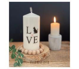 Bluke015 Kerze ⋆ Katzenliebe ⋆ Liebe auf 4 Pfoten