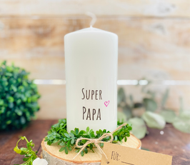 Kerze * Super Papa * personalisiertes Vatertagsgeschenk Papatag