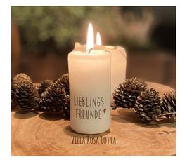 Bluke036 Kerze ⋆ LIEBLINGSFREUNDE⋆ Schönes Mitbringsel & Geschenk für Deine Mädels und als Tischdeko, wenn sie dich besuchen kommen