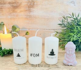 *#Buddha Om Kerzenset * Geschenke Yoga & Meditation #om + Buddha meditate + Breathe