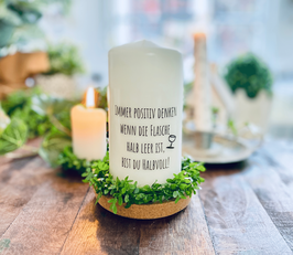 Bluke004 Kerze ⋆ Immer positiv denken ⋆