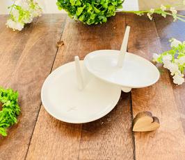 Kerzenständer *Blanca* für die langen schmalen Kommunionkerzen oder Taufkerzen
