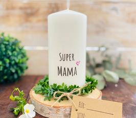 Kerze * Super Mama * personalisiertes Muttertagsgeschenk