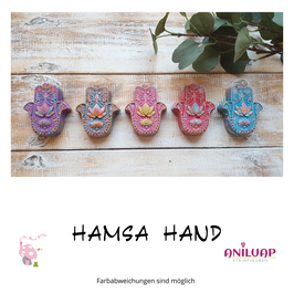Steingussfiguren Hamsa Hand
