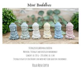 LikeZ Steingussfiguren ⋆ MINI BUDDHA  LOVE ⋆ Handmade in pastell Kreidefarben