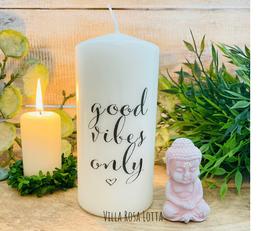 Vibes Kerze *good vibes only* Kalligrafie für Yoga & Meditation