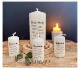 Bluke040 Kerze ⋆ Glückslicht ⋆  Vertrauen Glaube Zuversicht Hoffnung Frieden Gemeinschaft Glück Liebe Gesundheit Kraft
