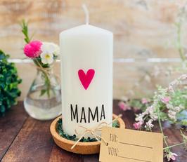 Kerze * Mama mit Herz *