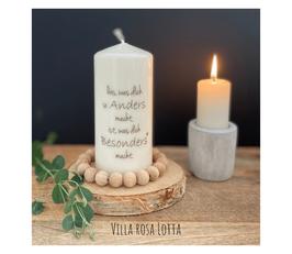 Bluke029 Kerze ⋆ Das was Dich so anders macht, ist, was dich besonders macht ⋆