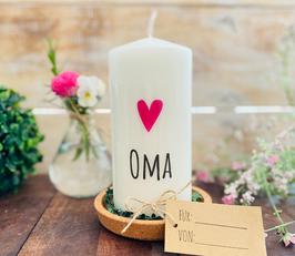 Kerze * Oma mit Herz *