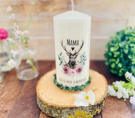 Kerze * Mama - wild + frech + wunderbar * personalisiertes Muttertagsgeschenk