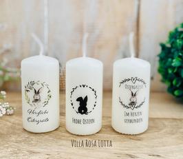 Kerzenset * Hasenfamilie 2 * Osterkerzenset Minis leuchtende Ostergrüße, wenn ihr mehrere Ostergrüße verschenken möchtet