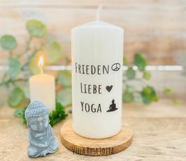 Harmonie Kerze * Frieden Liebe Yoga *für Yoga & Meditation